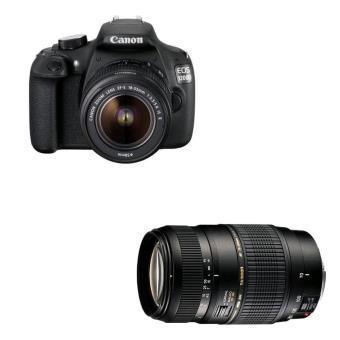 Reflex Canon EOS 1200 + Objectif D 18 - 55 DC III +  Objectif Tamron AF Di 70 - 300 mm f/4.0 - 5.6 LD Macro 1:2