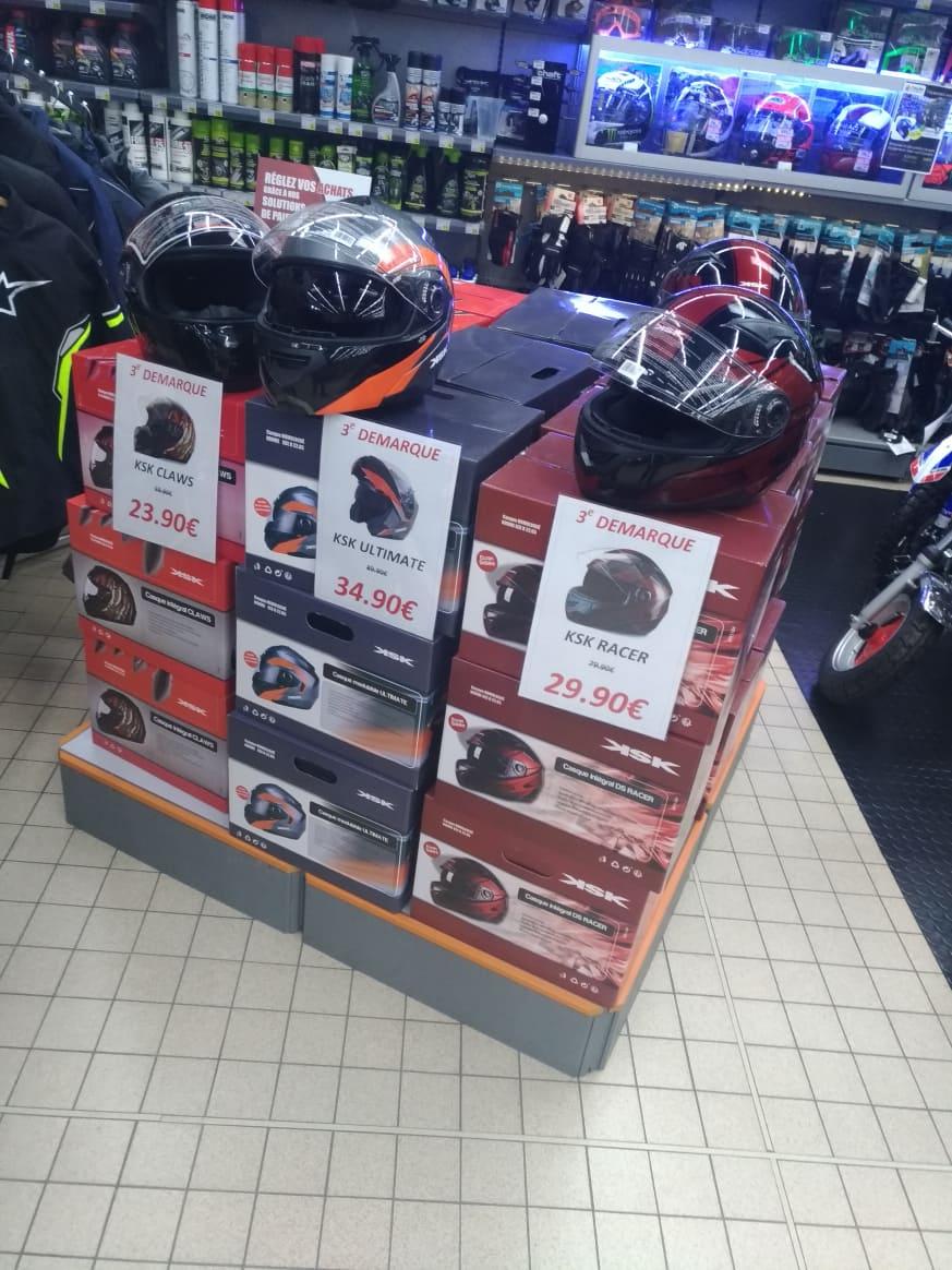 Casques pour moto KSK CLAWS, ULTIMATE ou RACER (Taille S, M, L, XL) - Quimper (29)
