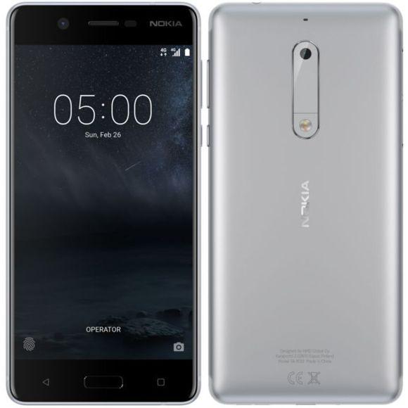 """Smartphone 5,2"""" Nokia 5 - HD, 2 Go de RAM, 16 Go de ROM, Argent"""