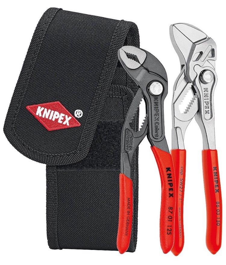 b4a6309a91bf Mini-jeu de pinces en pochette de ceinture à outils Knipex 00 20 72 V01