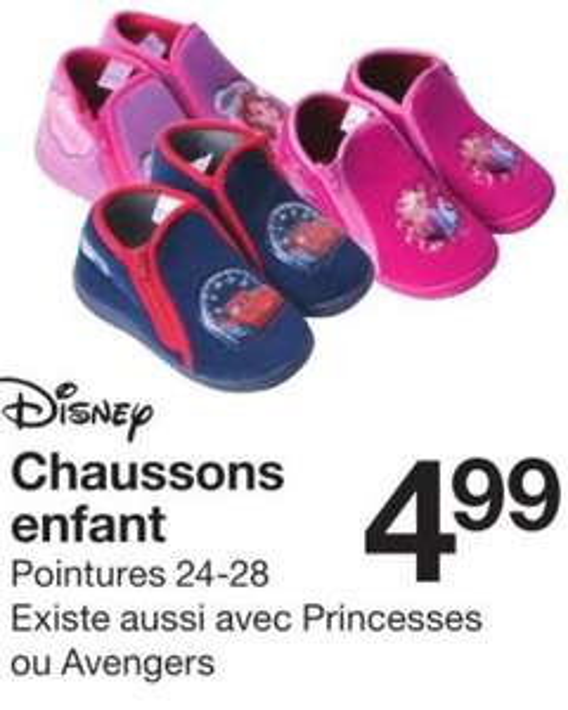 Chaussons enfant Disney