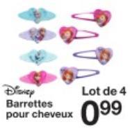 Divers bijoux et articles pour cheveux Disney
