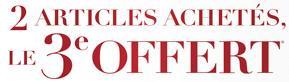 Soldes vêtements : 2 articles achetés, le 3ème offert