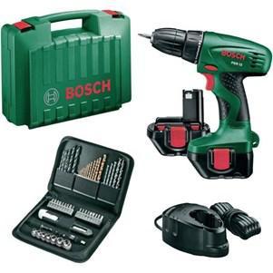 Perceuse visseuse Bosch sans fil 12V 2 batteries 1,2Ah + coffret 51 accessoires