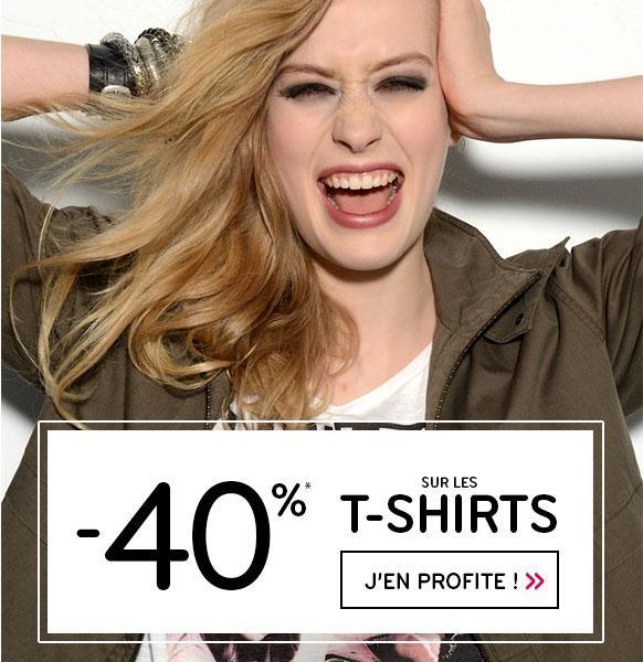 40% de remise sur tous les tee-shirts