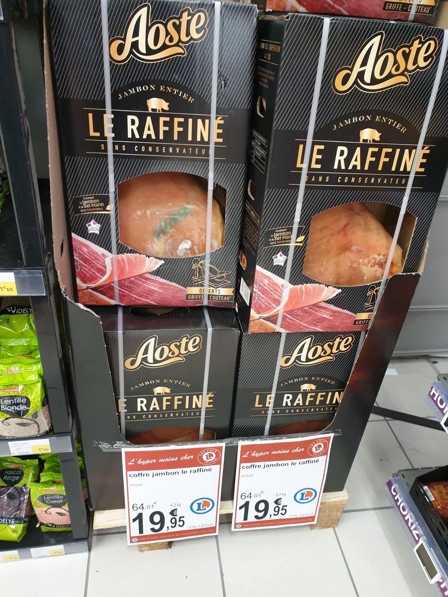 Jambon Aoste Le Raffiné 6.2kg + griffe et couteau offerts - Bellaing (59)