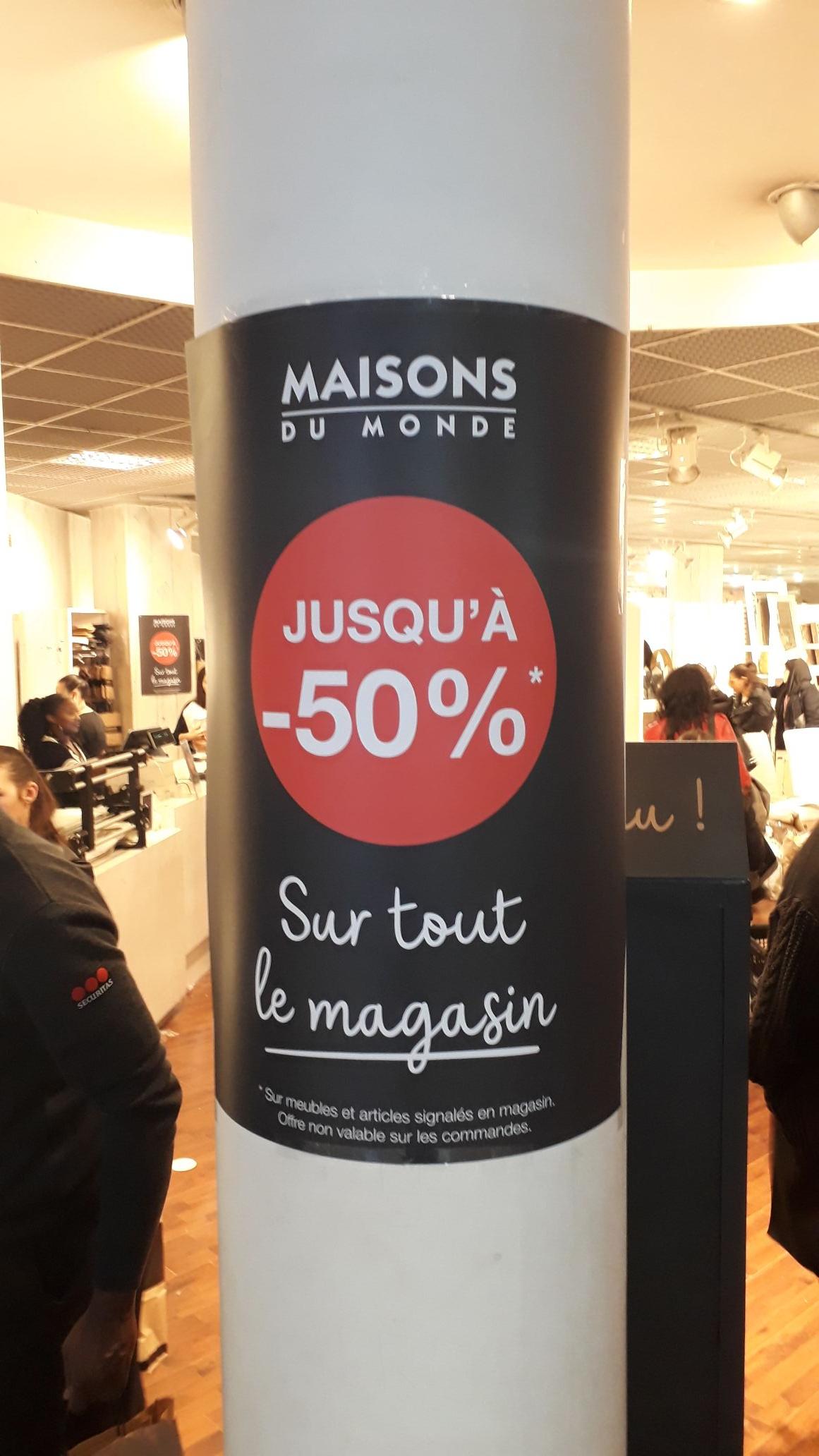 Jusqu'à 50% de réduction sur tout le magasin (liquidation avant travaux) - Thiais (94)