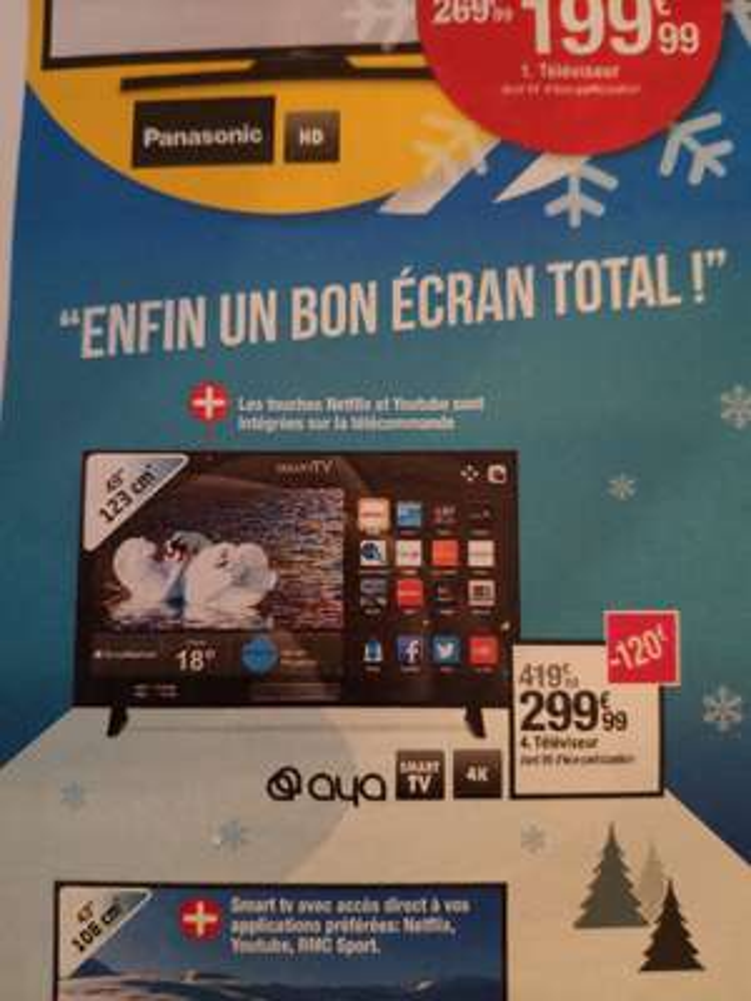 "TV 49"" Aya A49UHD0119BS - 4K, Smart TV"