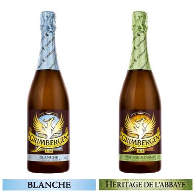 Bouteille de bière 75cl Grimbergen Héritage ou Blanche - ID Stock haut de France (59/62)
