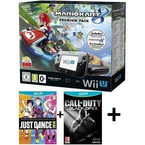 Pack Premium Wii U 32Go + Mario Kart 8 + Just Dance 14 + Call of Duty Black OPS II