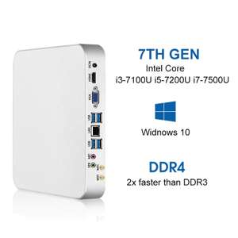 Mini PC - I7 7500U, 8Go de RAM, SSD 120Go