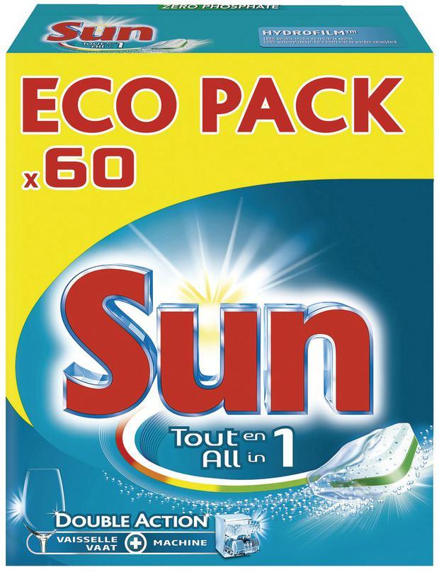 60 Tablettes Sun Lave-vaisselle (Avec 5.5€ sur la carte Waaoh)