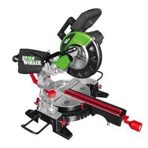Scie à onglet radiale Build Worker BRMS1900-210LA 1900W 210mm avec laser