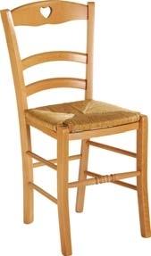 Lot de 2 chaises paysannes - coeur