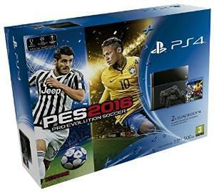 Sony PlayStation 4 (nouveau modele cuh-1216a) - 500Go + Jeu PES 2016 + 2 Manettes DualShock