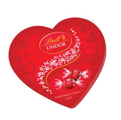 Boîte Cœur chocolat au lait Lindt Lindor - 160g
