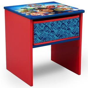 Table De Chevet Enfant En Bois Avec Tiroirs Pat Patrouille Rouge