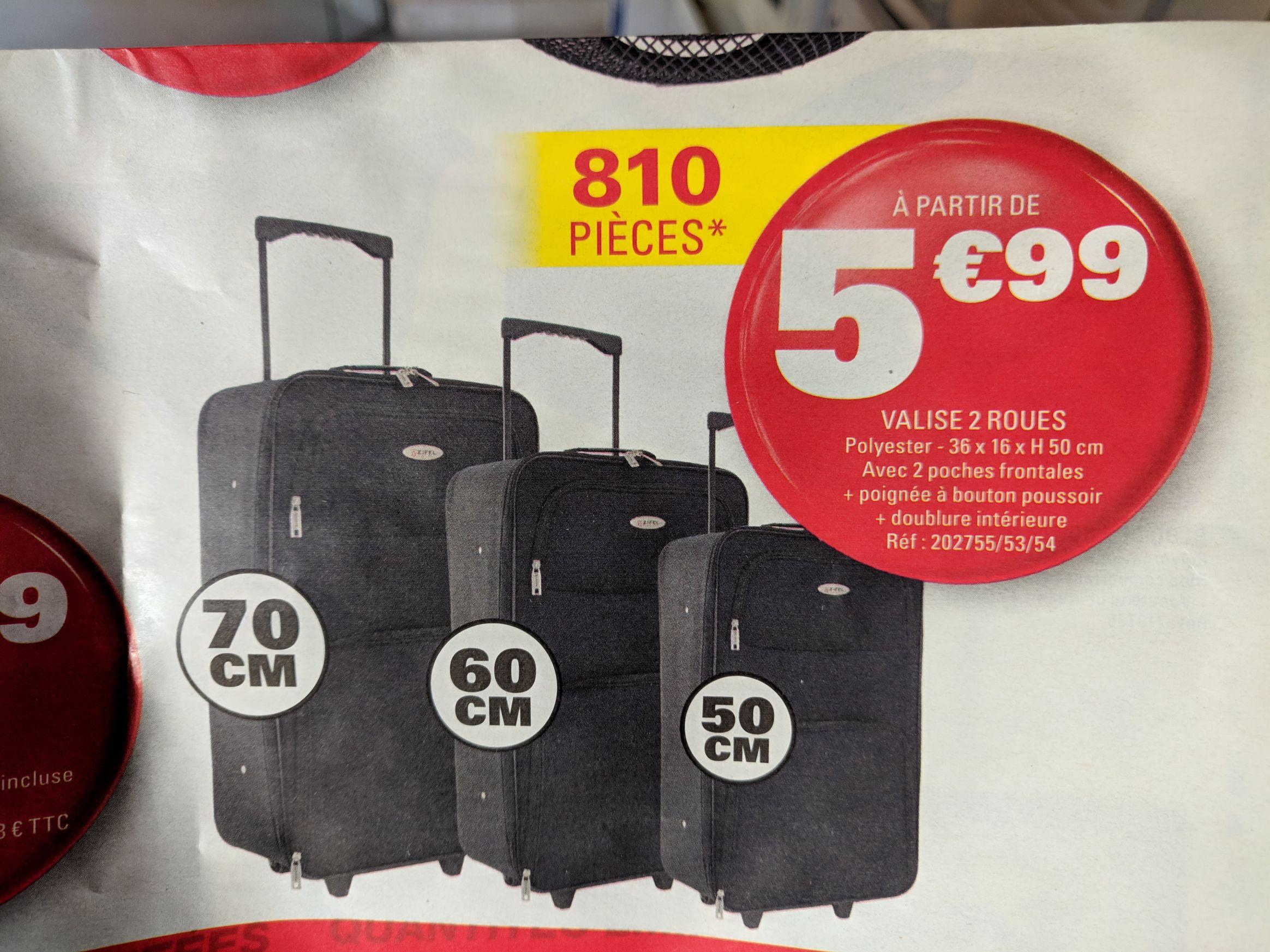 Valise cabine - 50 cm, 2 Roues