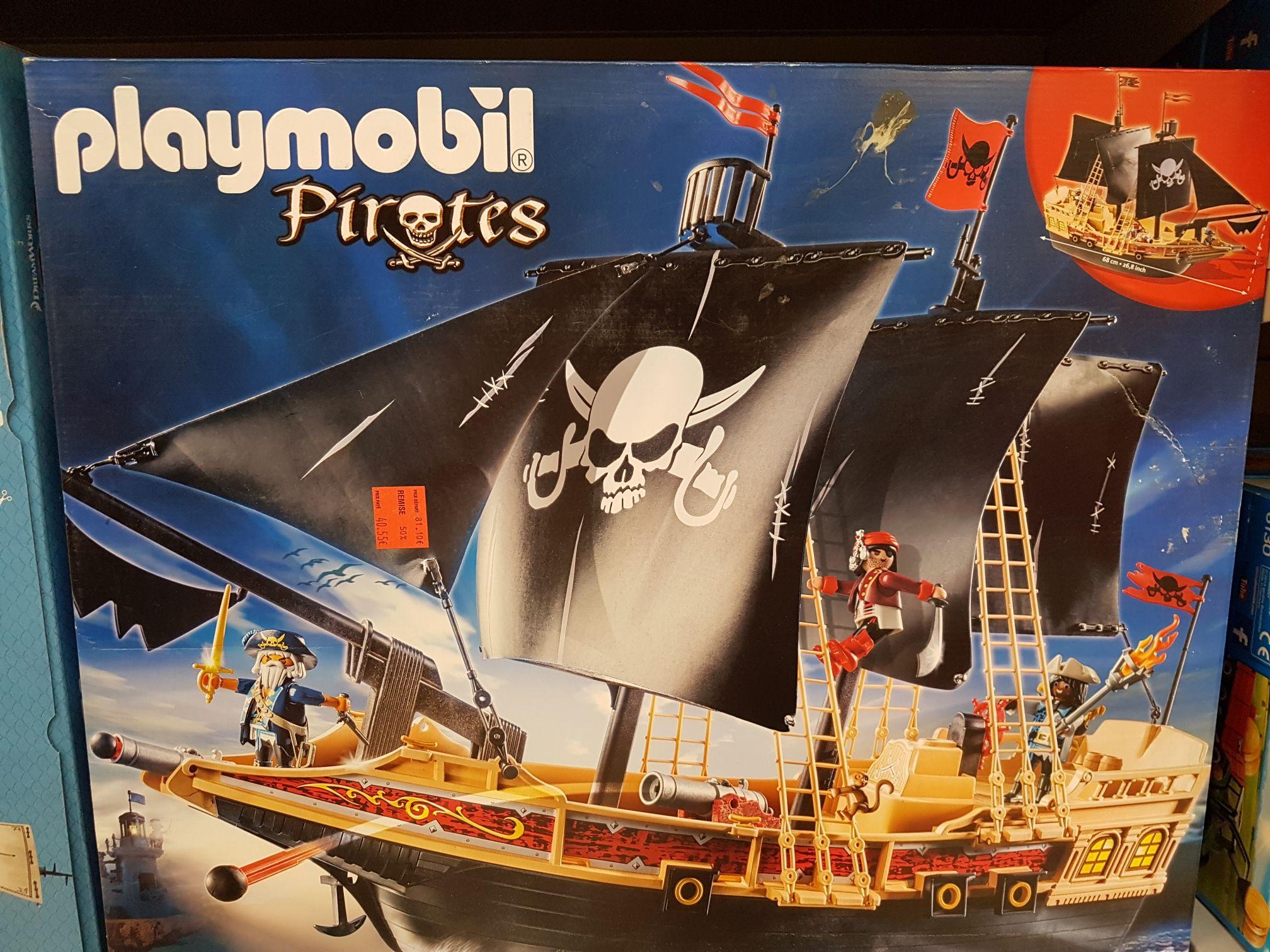 Sélection de jouets Playmobil en promotion - Ex : Bateau Pirates des Ténèbres (6678) - Le Mans (72)