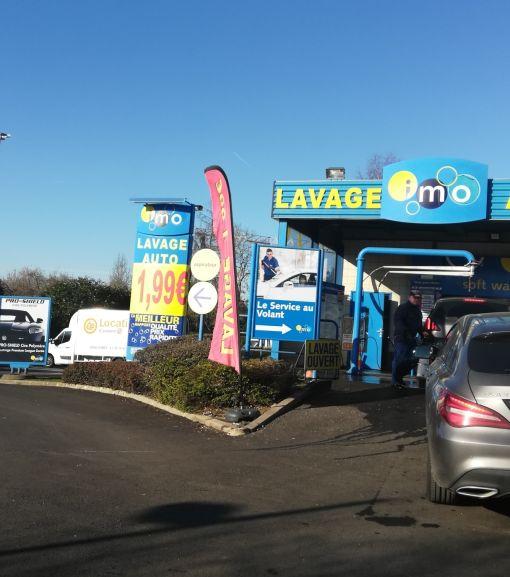 Nettoyage auto express - Station de lavage IMO Leclerc Auto de Bois d'Arcy (78)