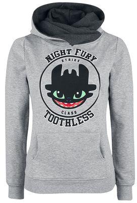 Sweat-shirt à capuche Night Fury (fureur nocturne dragon)