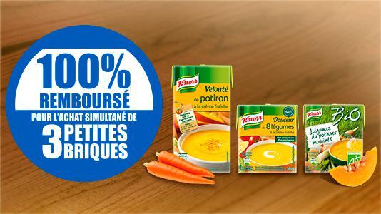 3 soupes Knorr 100% remboursées