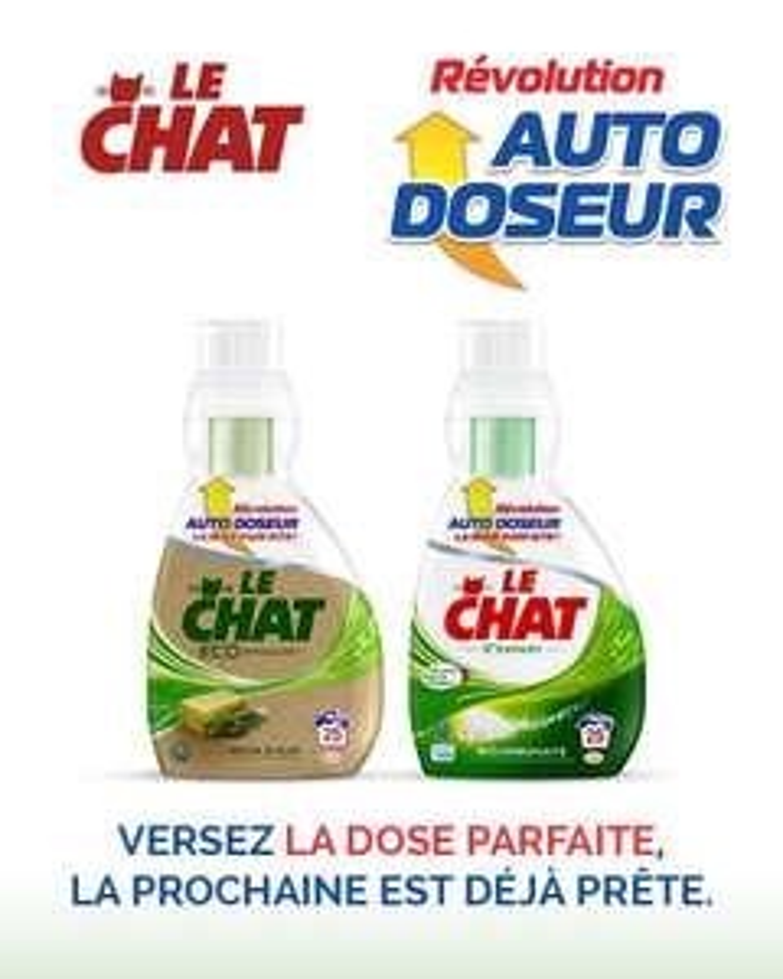 1 bidon de lessive Le chat  Auto Doseur
