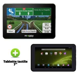 """GPS Mappy Maxi X685 Poids-Lourds camping cars + tablette 7"""" offert (via ODR 30€)"""