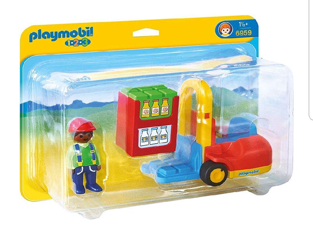 Chariot élévateur Playmobil 123 (6959)