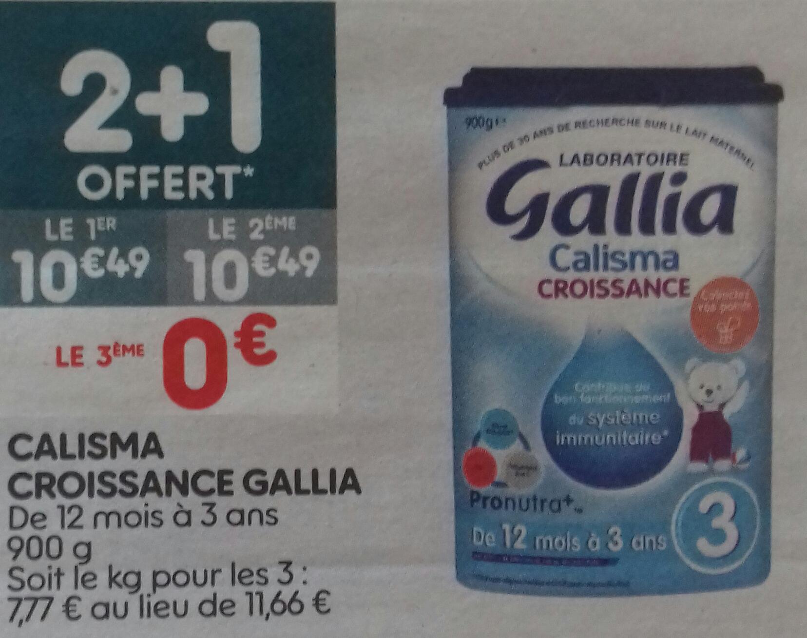 Lot de 3 boîtes de lait de croissance Gallia - De 12 mois à 3 ans