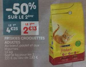 Lot de 2 paquets de croquettes FRISKIES pour chat adulte - 1,5kg