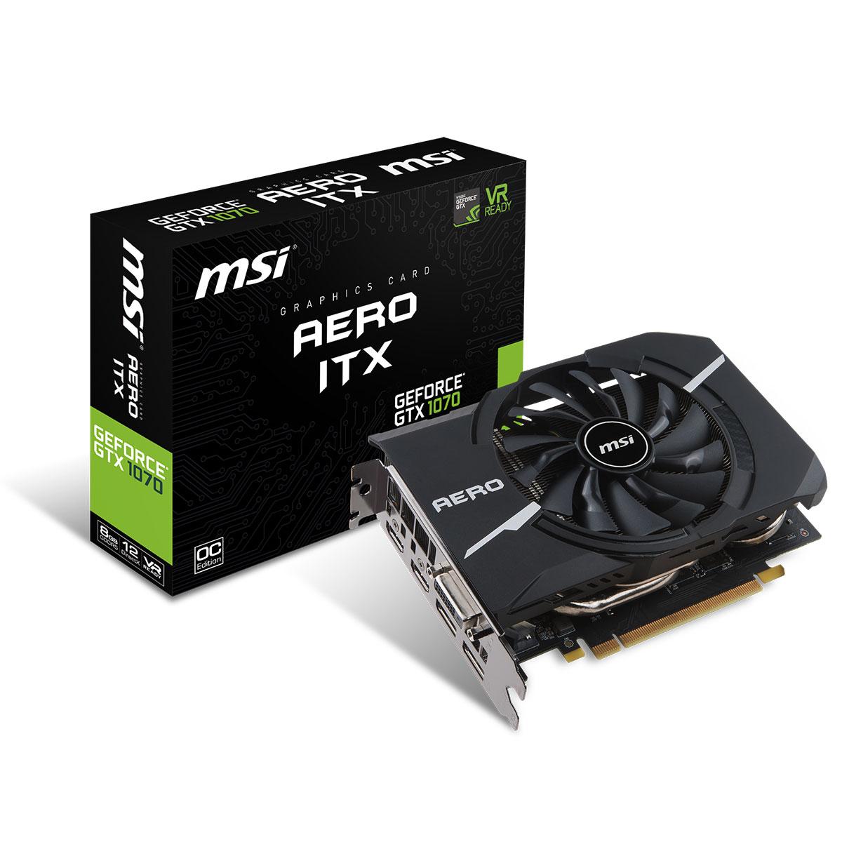 Carte Graphique MSI GeForce GTX 1070 Aero 8Go OC