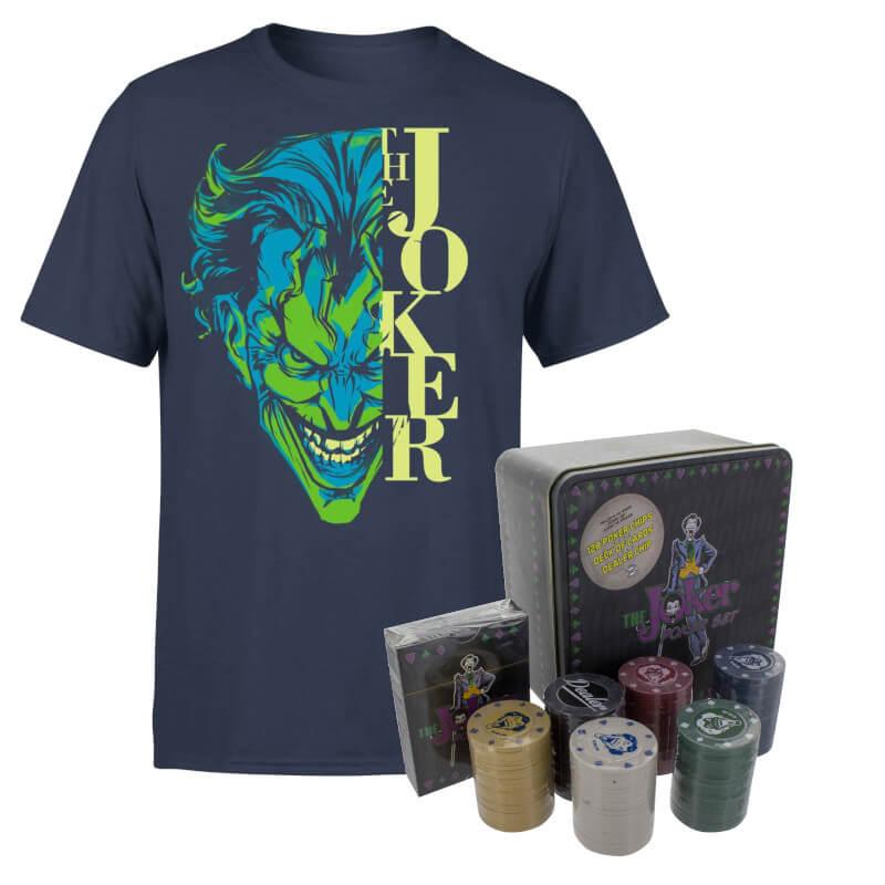 Lot joker dc : T-Shirt DC Comics Joker + Set de Poker Joker