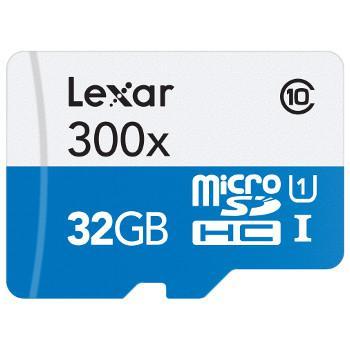 Carte Micro SDHC Lexar 32 Go 300x  + Adaptateur SD