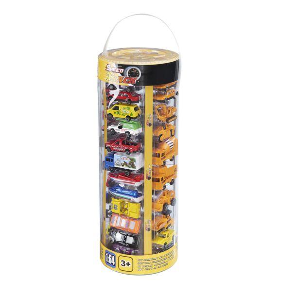 Tube de 50 petites voitures  Speedtrack (Echelle 1/64ème)