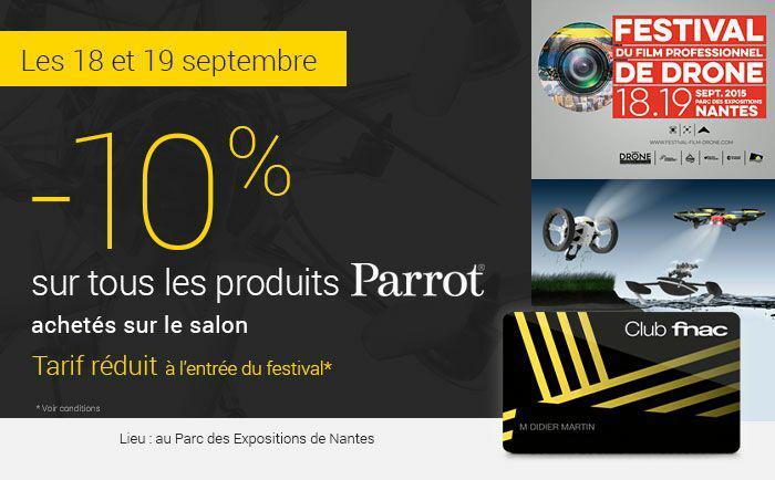 [Adhérents Fnac] 10% de réduction sur tous les produits Parrot