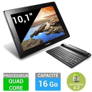 "Tablette 10.1"" Lenovo IdeaTab A10-70  - 16 Go + Clavier bluetooth (ODR 30€)"