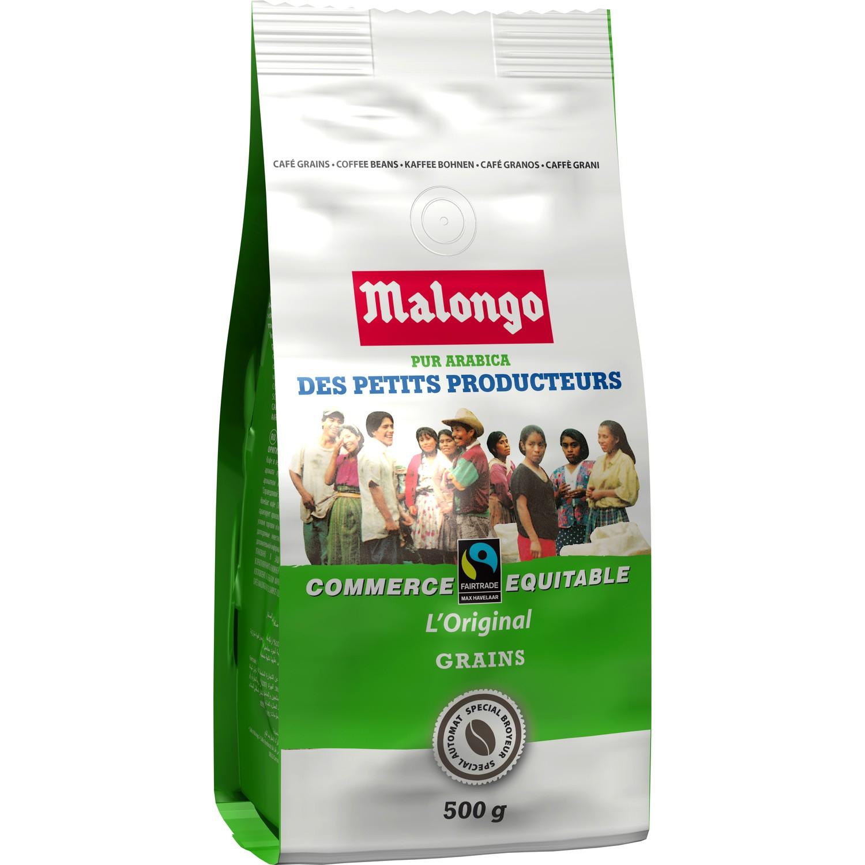 Sachet de Café en Grains Malongo Petits Producteurs 100% Pur Arabica - 500 gr
