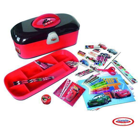 Boîte à Outils Cars Coloriage et Crayons - 60 Pièces