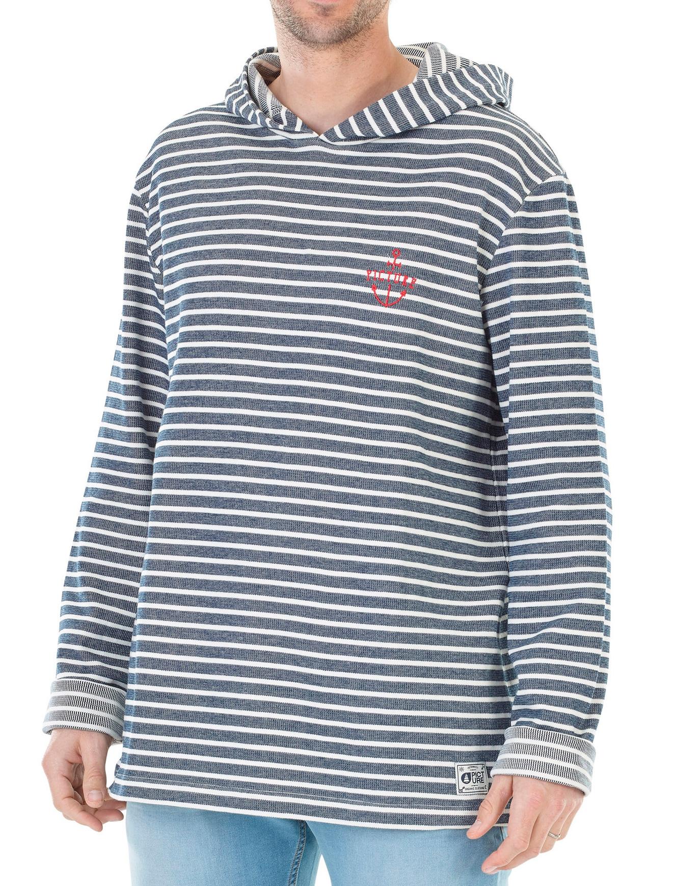 Sweat-shirt à Capuche Yann Ho Dark Blue pour Hommes - Tailles : S ou M