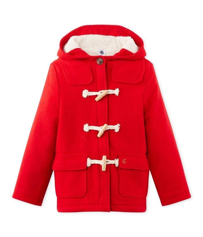 Veste duffle-coat pour enfant Petit Bateau - rouge (différentes tailles) - Pont-Sainte-Marie (10)