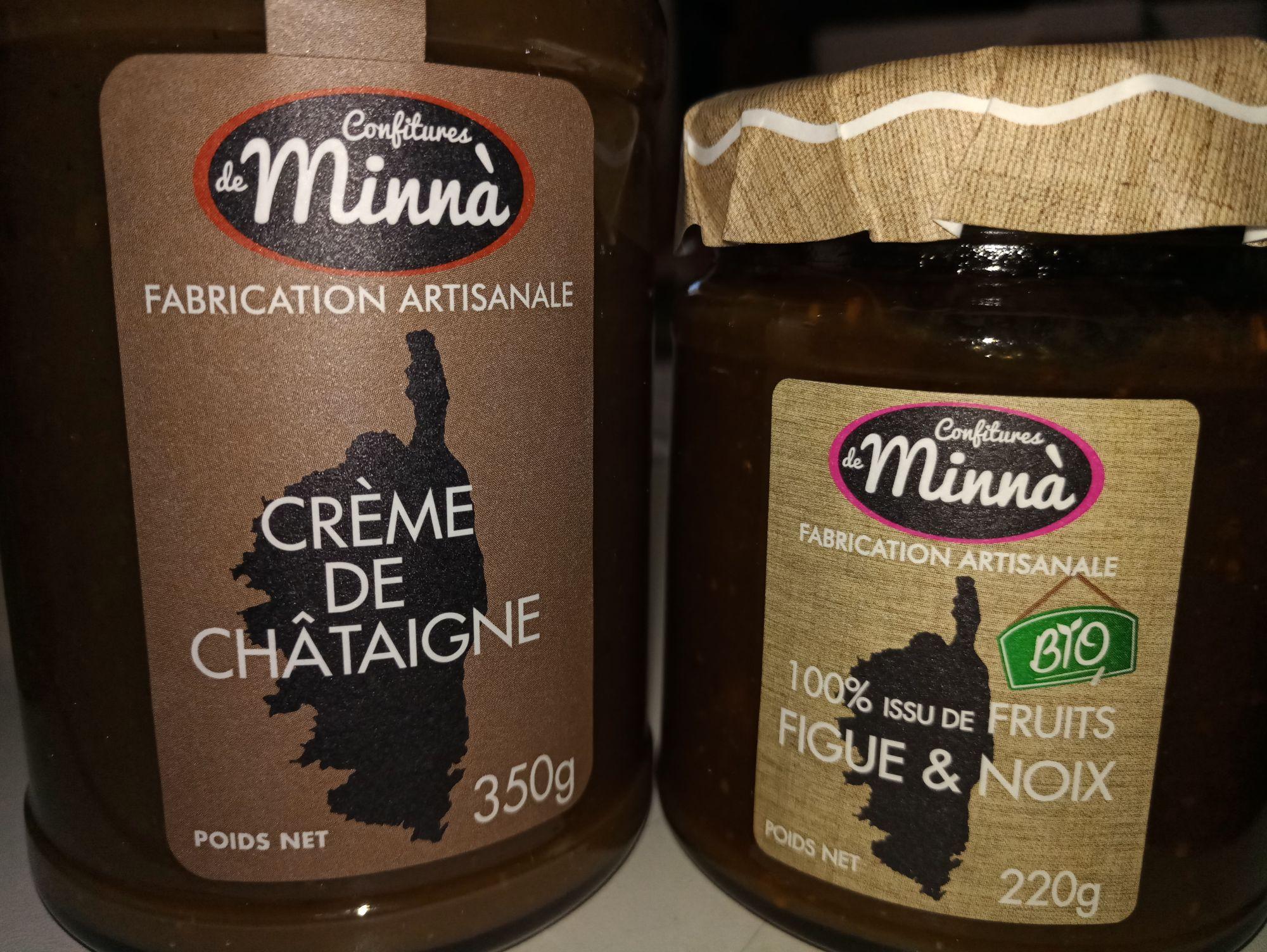 Sélection de produits Confiture de Minnà. Ex : Confiture Figue Noix Bio - Noz Saint Claude (39)