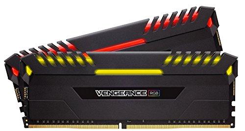 Kit mémoire RAM Corsair Vengeance RGB - 16Go (2x8Go), DDR4, 3000MHz, C16, XMP 2.0, Noir