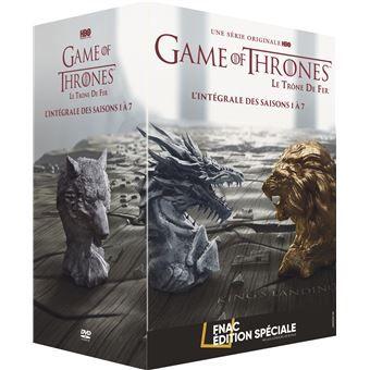 Coffret DVD : Game of Thrones (Le Trône de Fer) - L'intégrale des saisons 1 à 7 édition spéciale Fnac