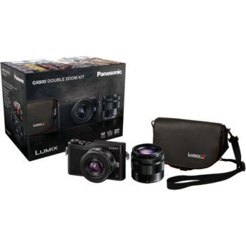 Appareil photo Hybride Panasonic Lumix DC-GX800 + Objectifs 12-32mm & 35-100mm + Sacoche