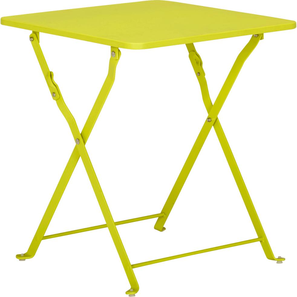 Table basse de jardin pliante verte en acier (Petit modèle)