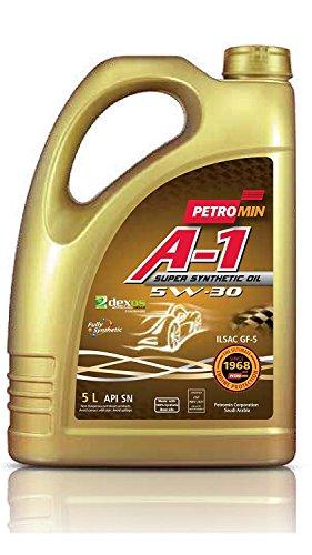 Huile moteur Diesel & Essence - Petromin A-1 Super Synthetic Oil SAE 5W30 SN - 5L