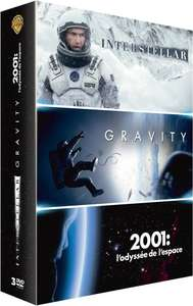 Coffret DVD 3 Films : Interstellar + Gravity + 2001, l'Odyssée de l'espace