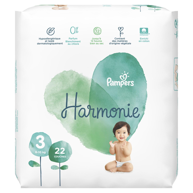 1 Paquet de 22 Couches bébé Pampers Harmonie - Taille aux choix (via 6.45€ sur le compte fidélité) - Givors (69)