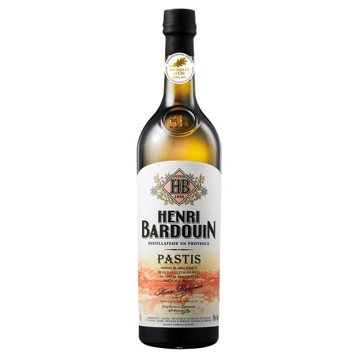 1 Bouteille de Pastis Henri Bardouin - 70cl